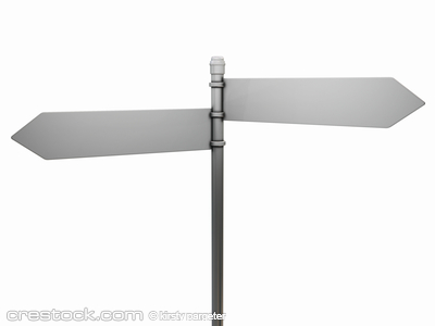 3D render of a blank road sign